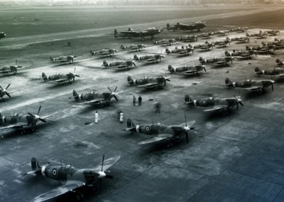 New-Spitfires-are-lined-up-ready-for-the-RAF